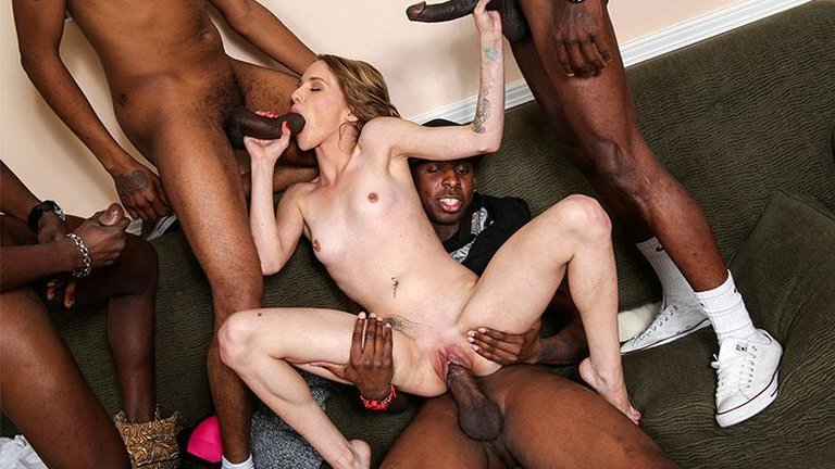 Black monster gangbang