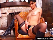 boots, fetish, french, girlfriend, masturbation, pussy