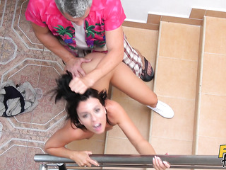 hungarian amateur fucked stairs