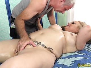 mature mom massage