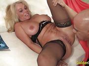 big tits, blonde, blowjob, canadian, mature