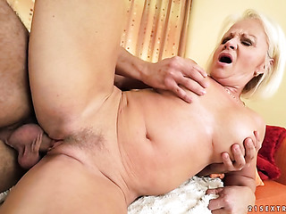 mature lady with landing