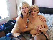big tits, blowjob, milf, orgasm, smoking, threesome
