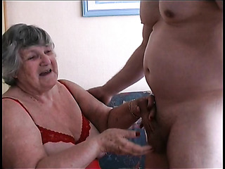 big tits granny stockings