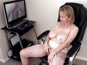 balls, big tits, blowjob, hairy, mature, stockings