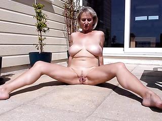 big tits spread legs