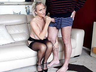 naked mature stocking fuck