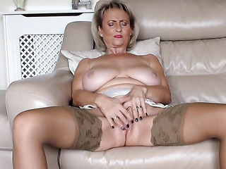big tits mature striptease
