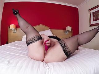 wet stockings high heels