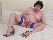 bbw, bed, individual model, mature, milf, panties