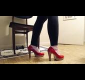 Voluptuous mature high heels