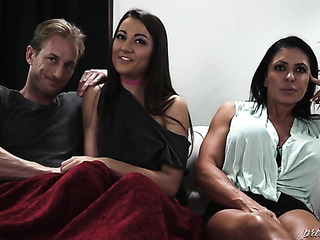 brunette coed has sex