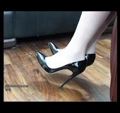 Beautiful sexy foot tease