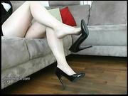 beautiful shiny high heels