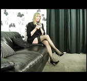 Lovely stockings high heels