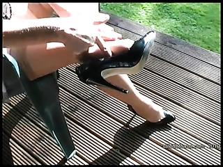 beautiful foot heels