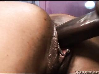 ebony brunette with bangs