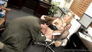 blonde secretary with huge