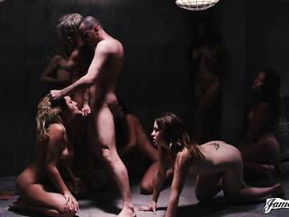 hardcore rough orgy