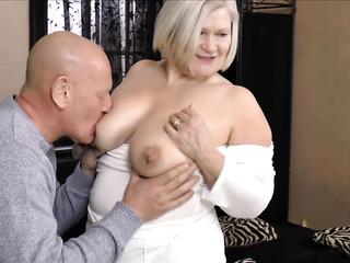 saggy tits british granny