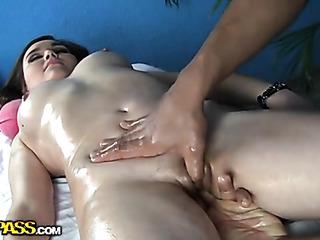 passionate sexy babe massage