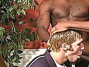 2 on 1, couple, facial, gay
