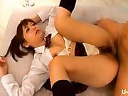 asian, japanese, threesome, uniform