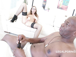 czech rough interracial gangbang