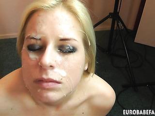 brunette czech amateur facial