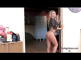 slim blonde round ass