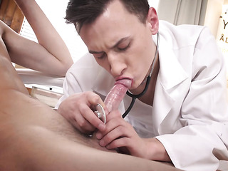 kinky gay doctor's exam