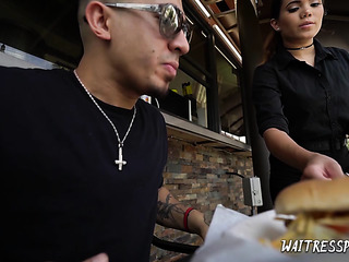 latina waitress fucked hard