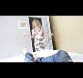 Chubby busty mom gets fucked by son in his bed