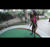 Porn agent picks up new black girl model while mini golf game