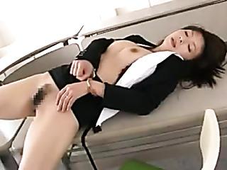 busty oriental office lady