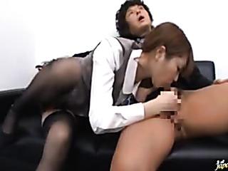 seductive oriental office girl