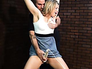 blonde vixen grey skirt