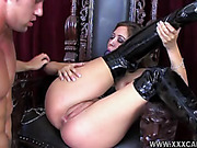 black, individual model, on her knees, on top