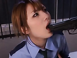 cute asian officer chick