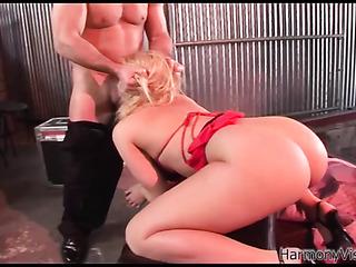 bound blonde slut with
