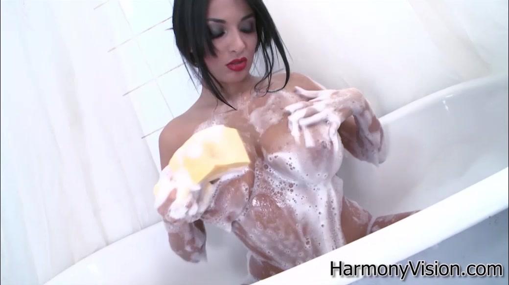 Boobs brunette bath big