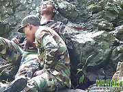 blowjob, forest, gay, military