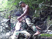 couple, gay, jungle, military