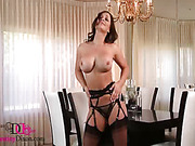 ass, individual model, lingerie, stockings