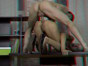 ass, hardcore, panties, table