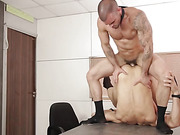 facial, fucking, gay, office