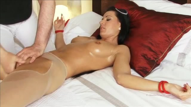 Handjob in front of wife