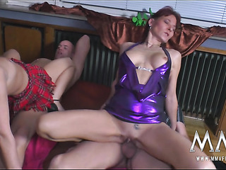 three horny matures with
