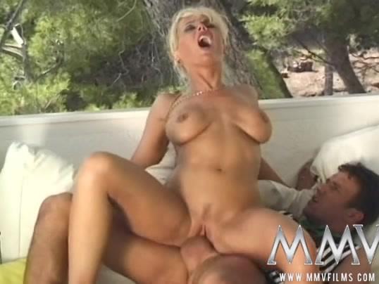 Blonde Milf First Threesome