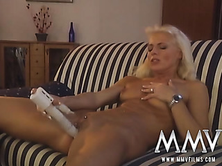 small-titted blondie with pussy